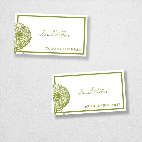 Escort Card Template Avery Items Similar to Avery Place Card Template Instant