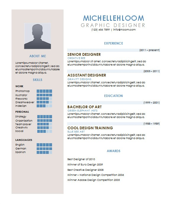 contemporary resume
