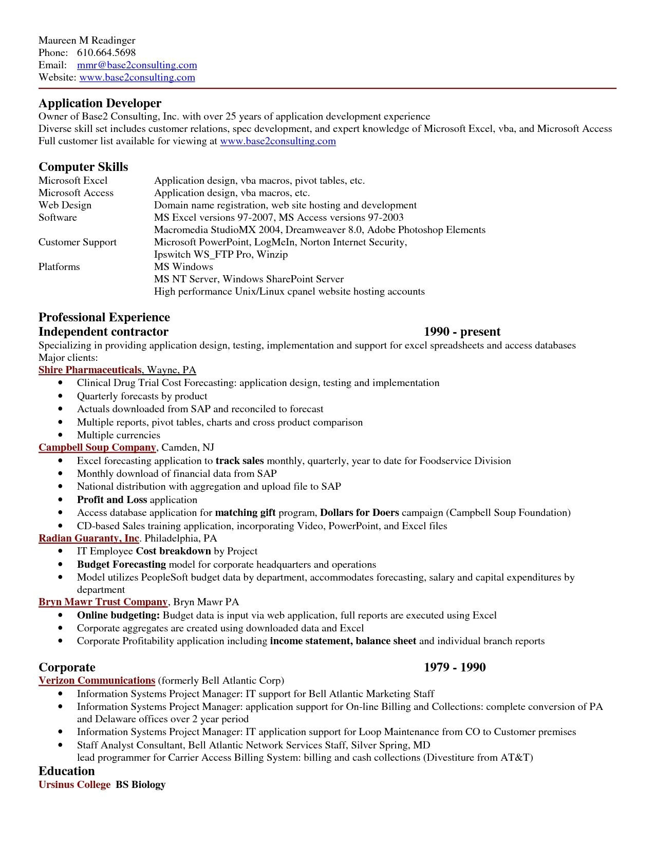 excel resume template