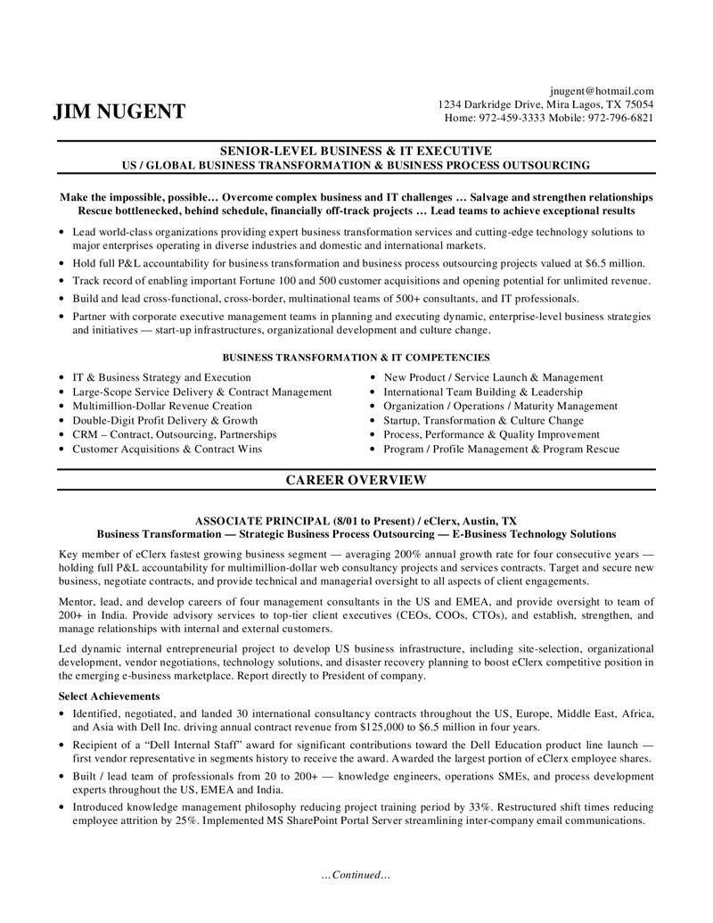 Executive Resume Template Free 7 Example Of Executive Resume Gcsemaths Revision