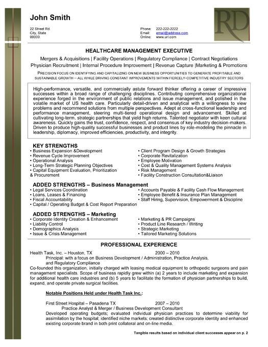 best executive resume templates samples
