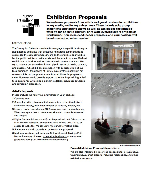 Exhibition Proposal Template 10 Art Proposal Templates Pdf Word Pages Sample
