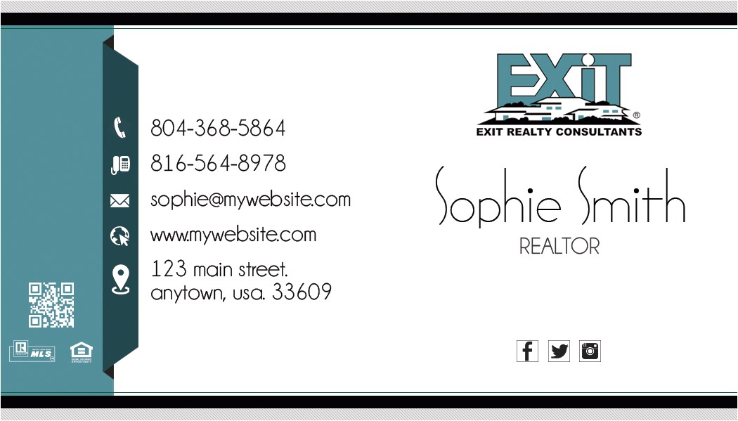 Exit Realty Business Cards Template Exit Realty Business Card 14 Exit Realty Business Card