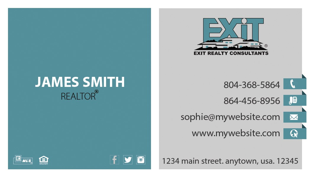 Exit Realty Business Cards Template Exit Realty Business Card 20 Exit Realty Business Card