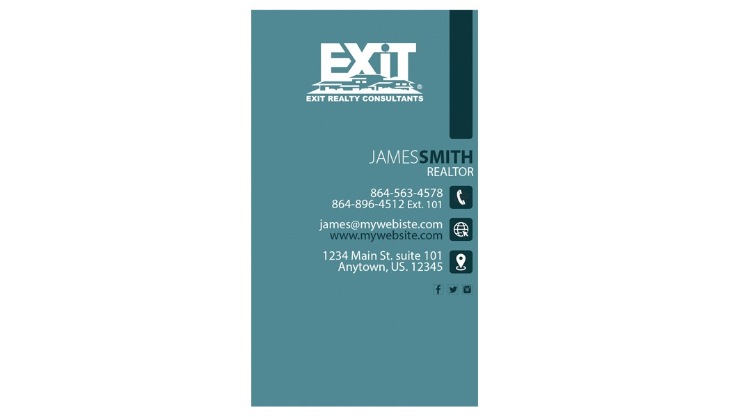 Exit Realty Business Cards Template Exit Realty Business Card 25 Exit Realty Business Card