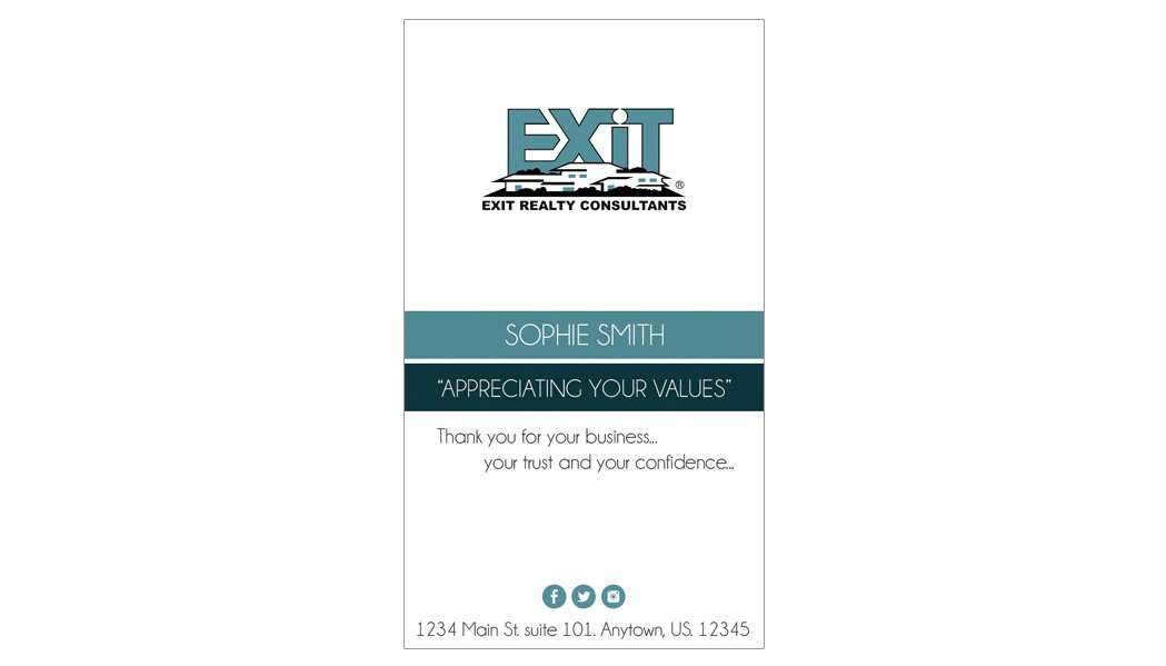 Exit Realty Business Cards Template Exit Realty Business Card 30 Exit Realty Business Card