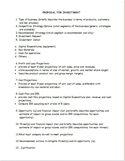 Expenditure Proposal Template Perfect Capital Expenditure Proposal Template Ensign