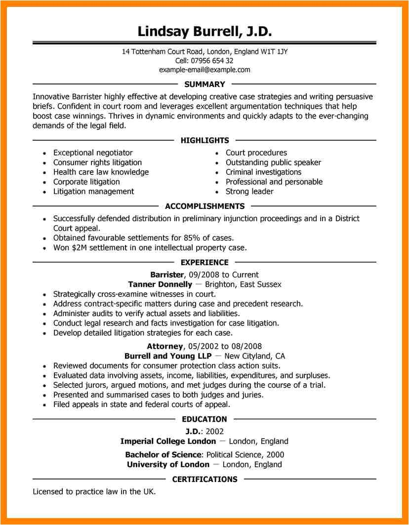 11 experienced attorney resume samples