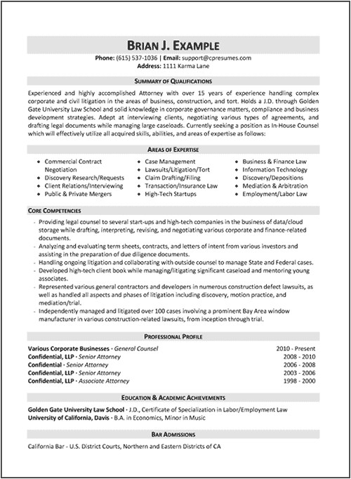 document review attorney resume sample
