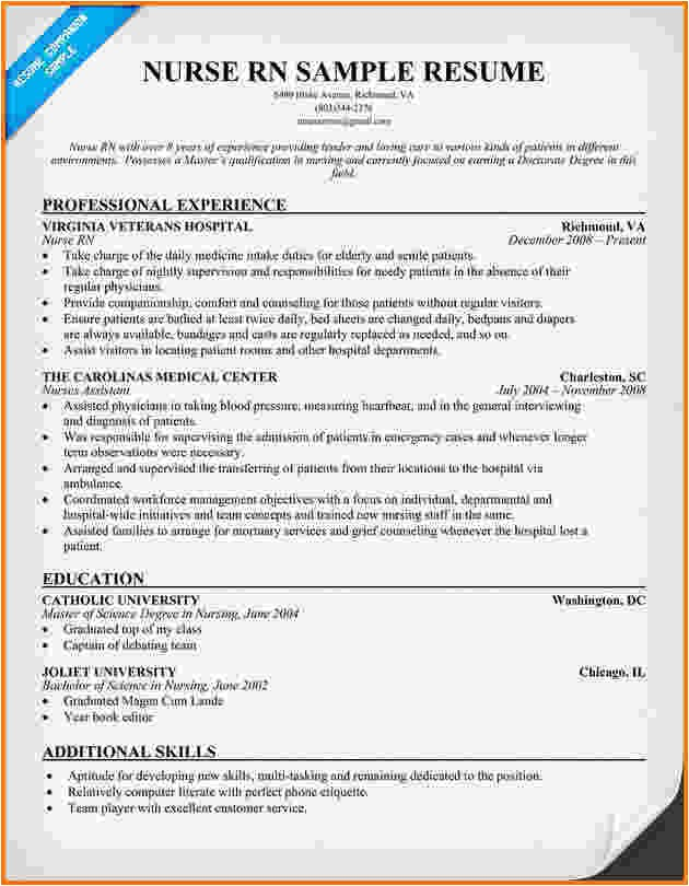 Experienced Rn Resume Templates 6 Experienced Nursing Resume Samples Financial Statement