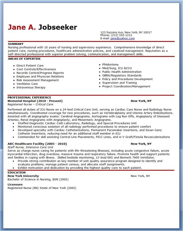 sample resume nurse no experience