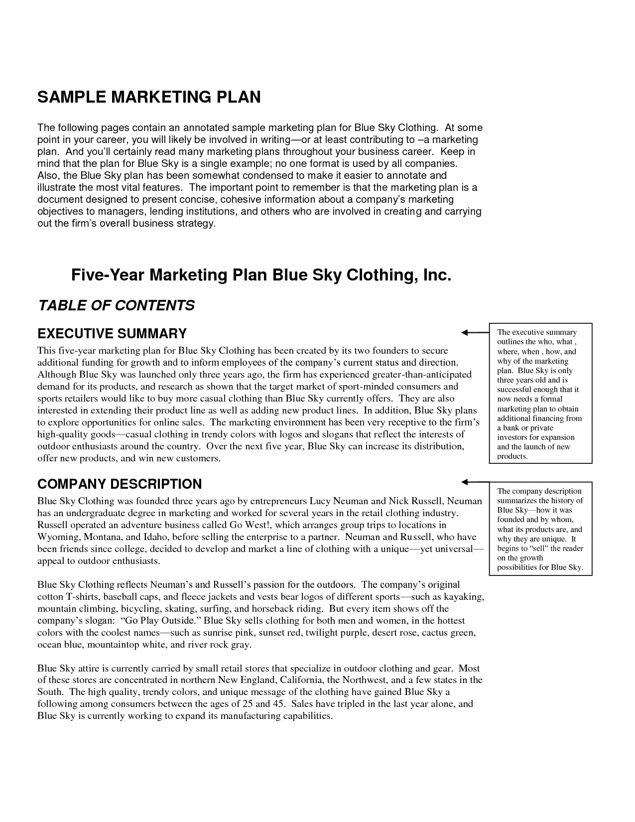 clothing line business plan template free 1432