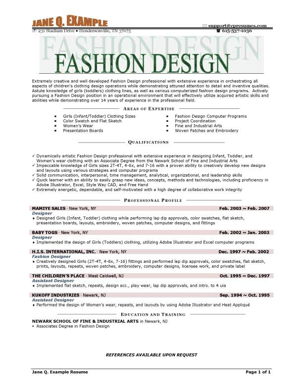 Fashion Resume Templates Fashion Resume Templates Learnhowtoloseweight Net