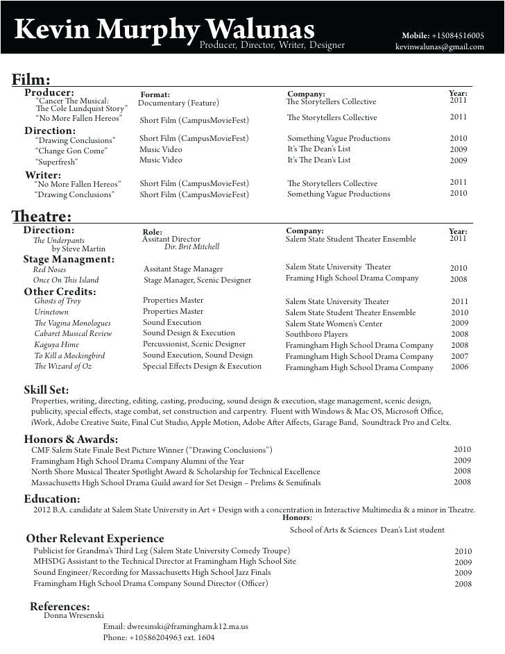 Film Director Resume Template Film Director Resume Best Resume Collection