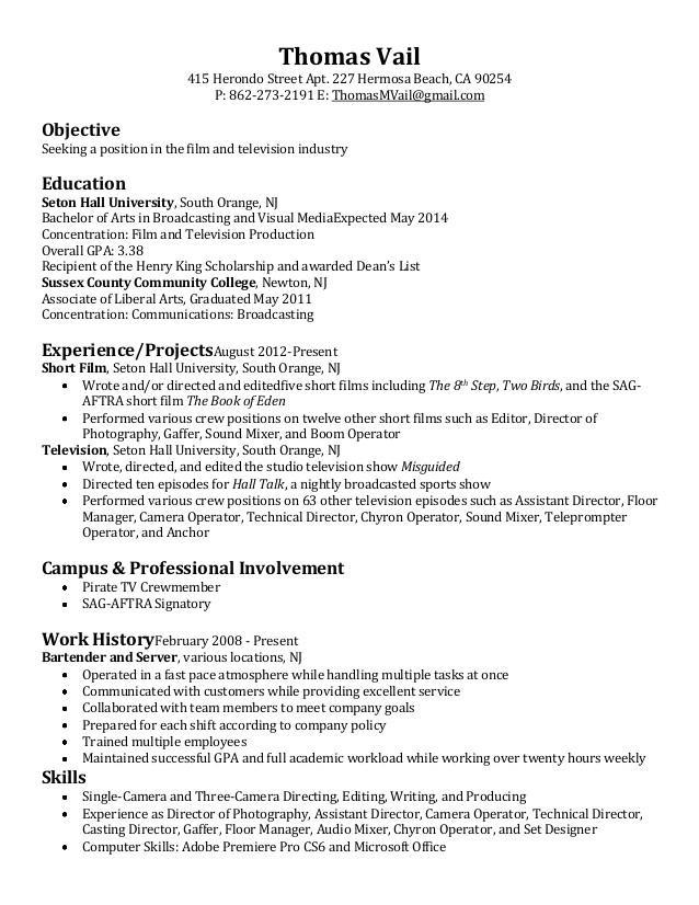 film television resume 33999982