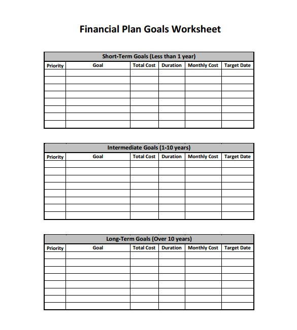 Financial Business Plan Template Excel Free Financial Plan Templates 10 Free Word Excel Pdf