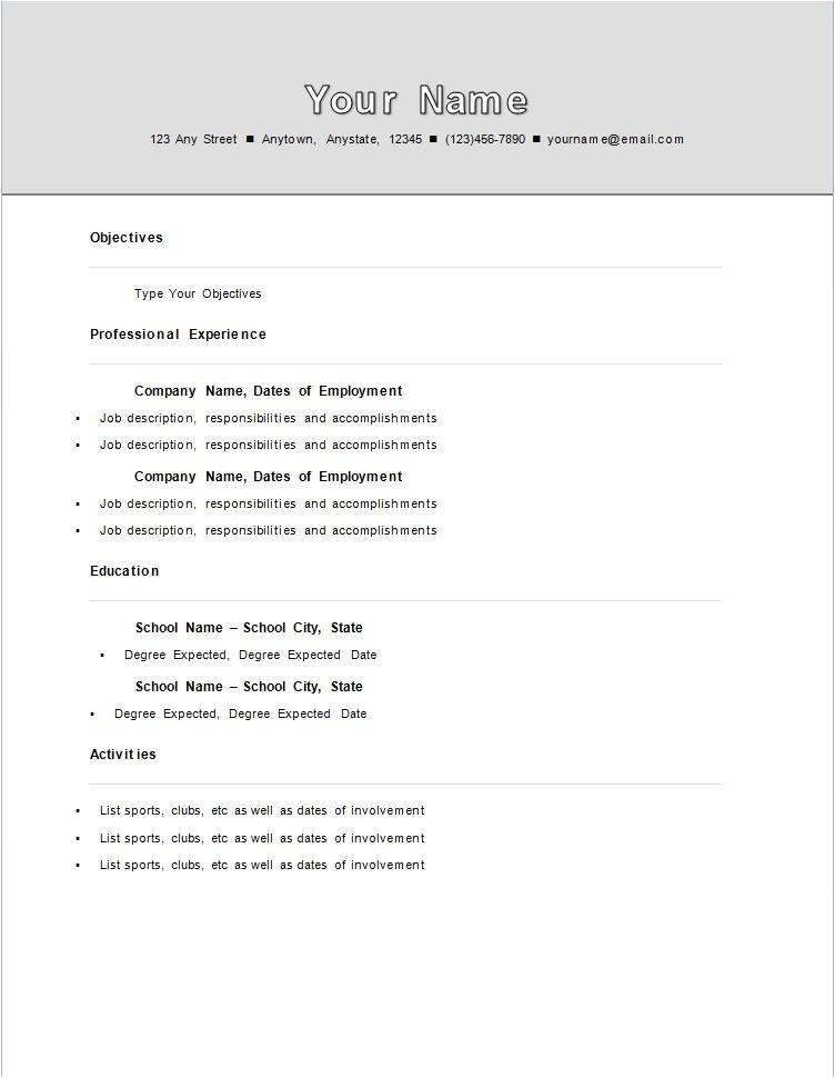 sample college student resume no work experience sample college first time resume with no experience samples