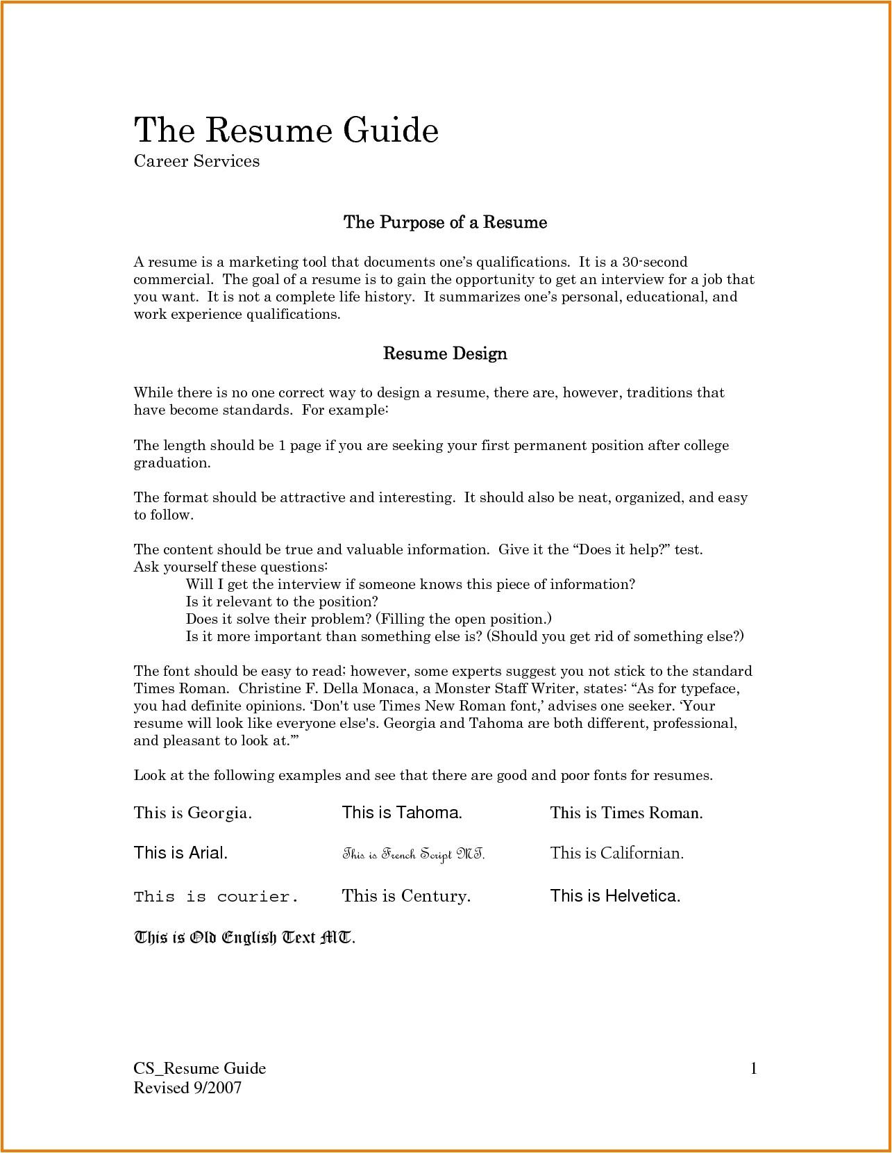 5 first job resume template