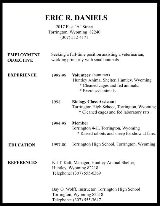 First Resume Templates 7 Good Resume Examples for First Job Invoice Template