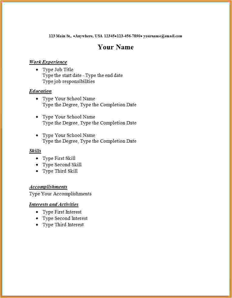 8 first resume templates