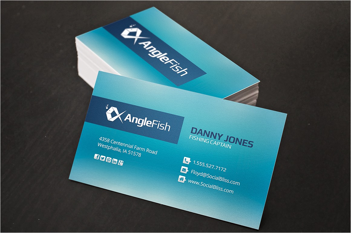 7355 fishing charter business cards