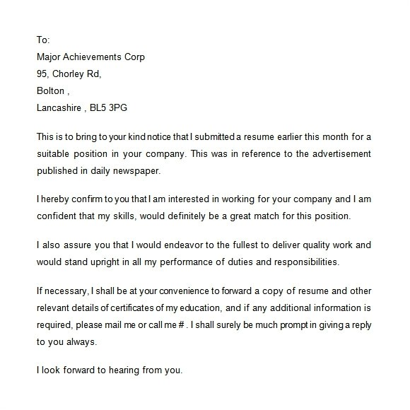 Follow Up after Resume Submission Sample Follow Up Email after Sending Resume Sample Best