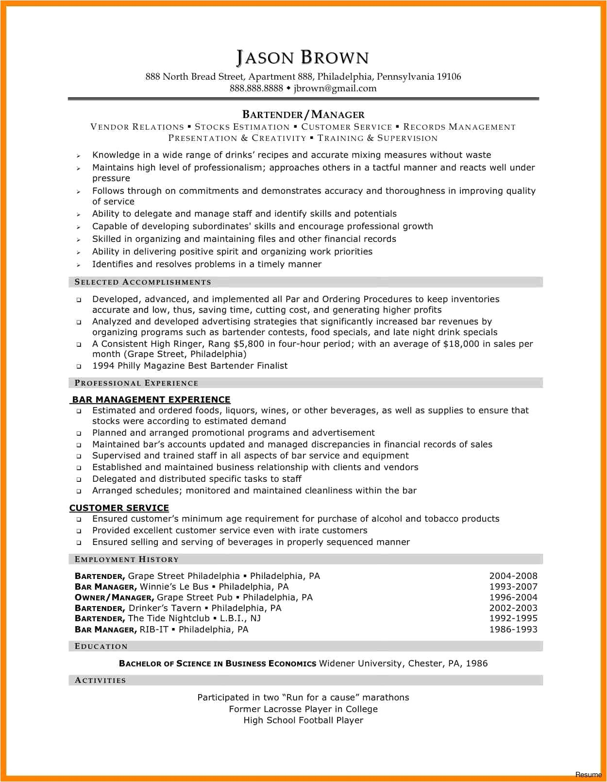 Food Industry Resume Templates 33 Expensive Service Industry Resume Nadine Resume