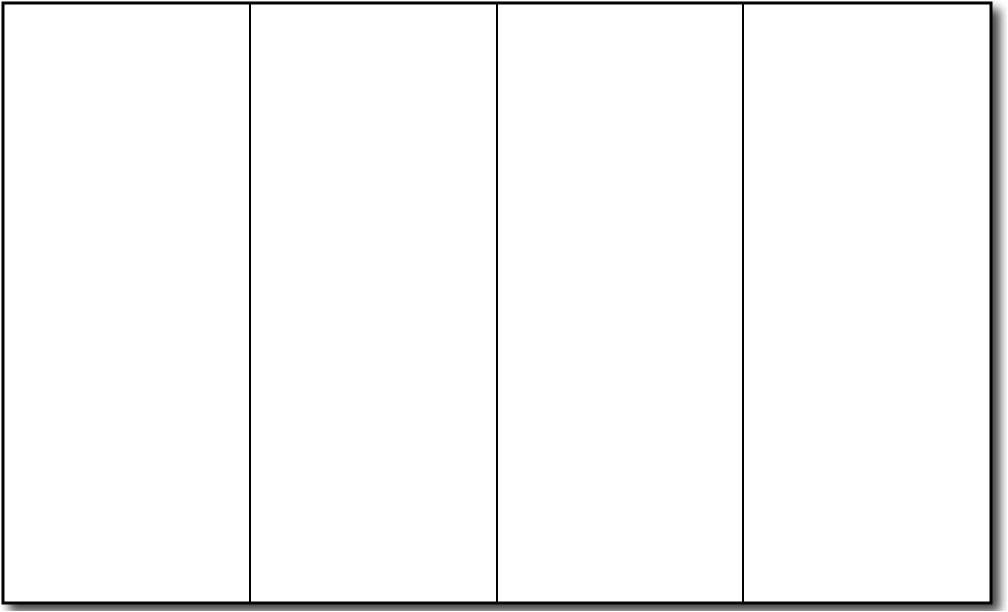 blank four fold brochure template
