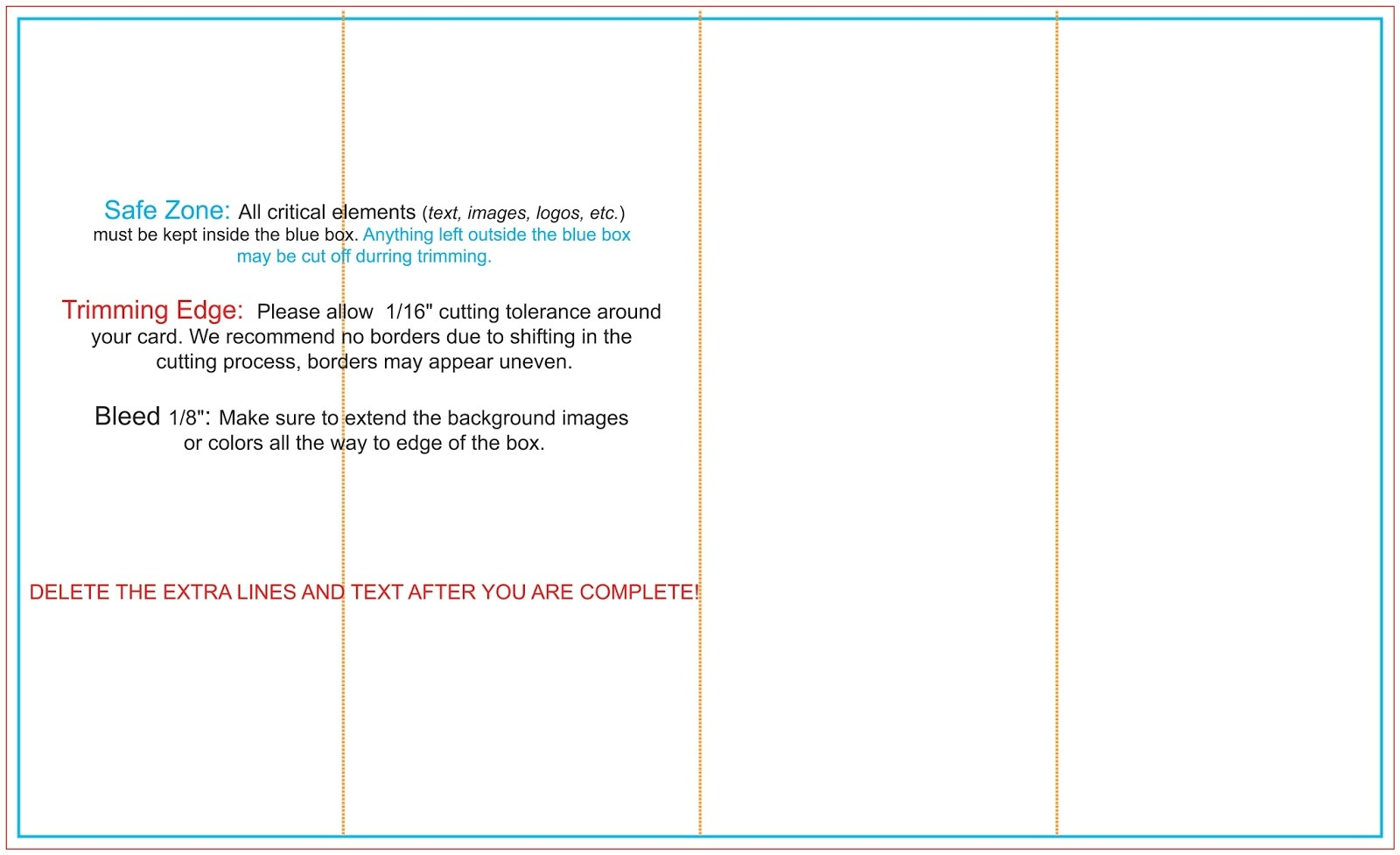 four panel brochure template free