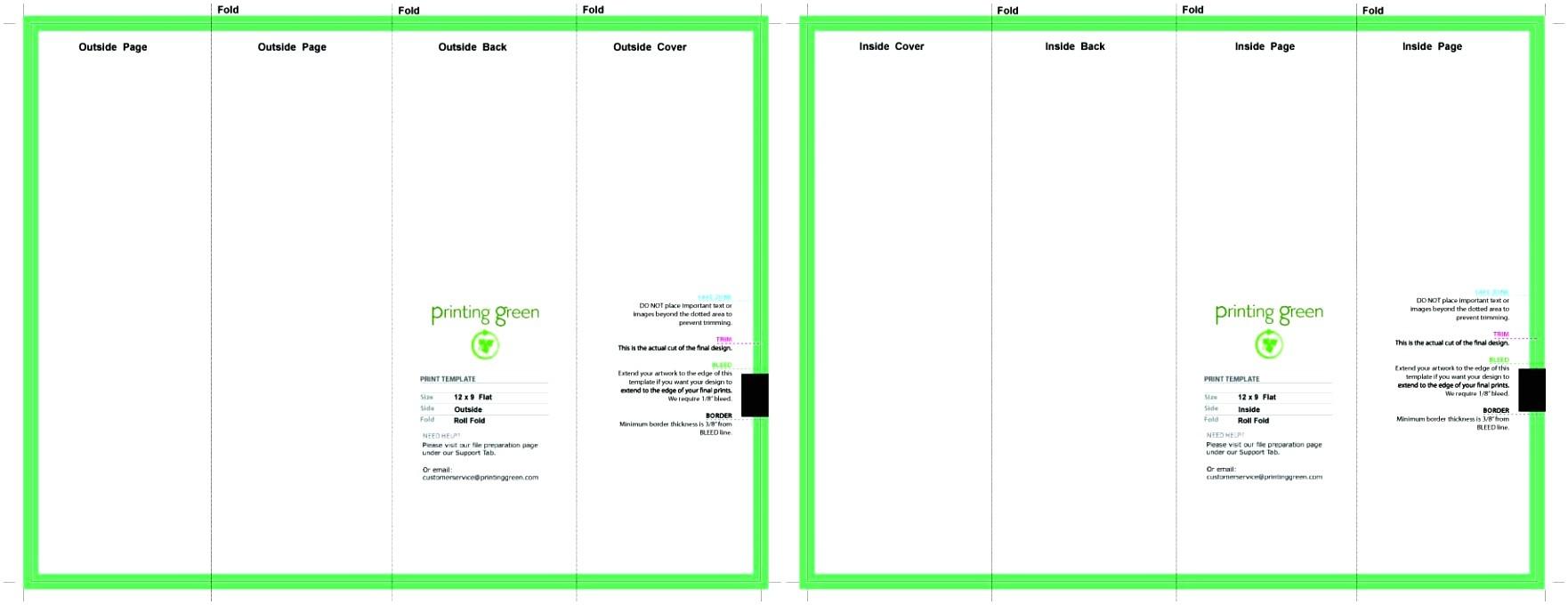 four fold brochure template
