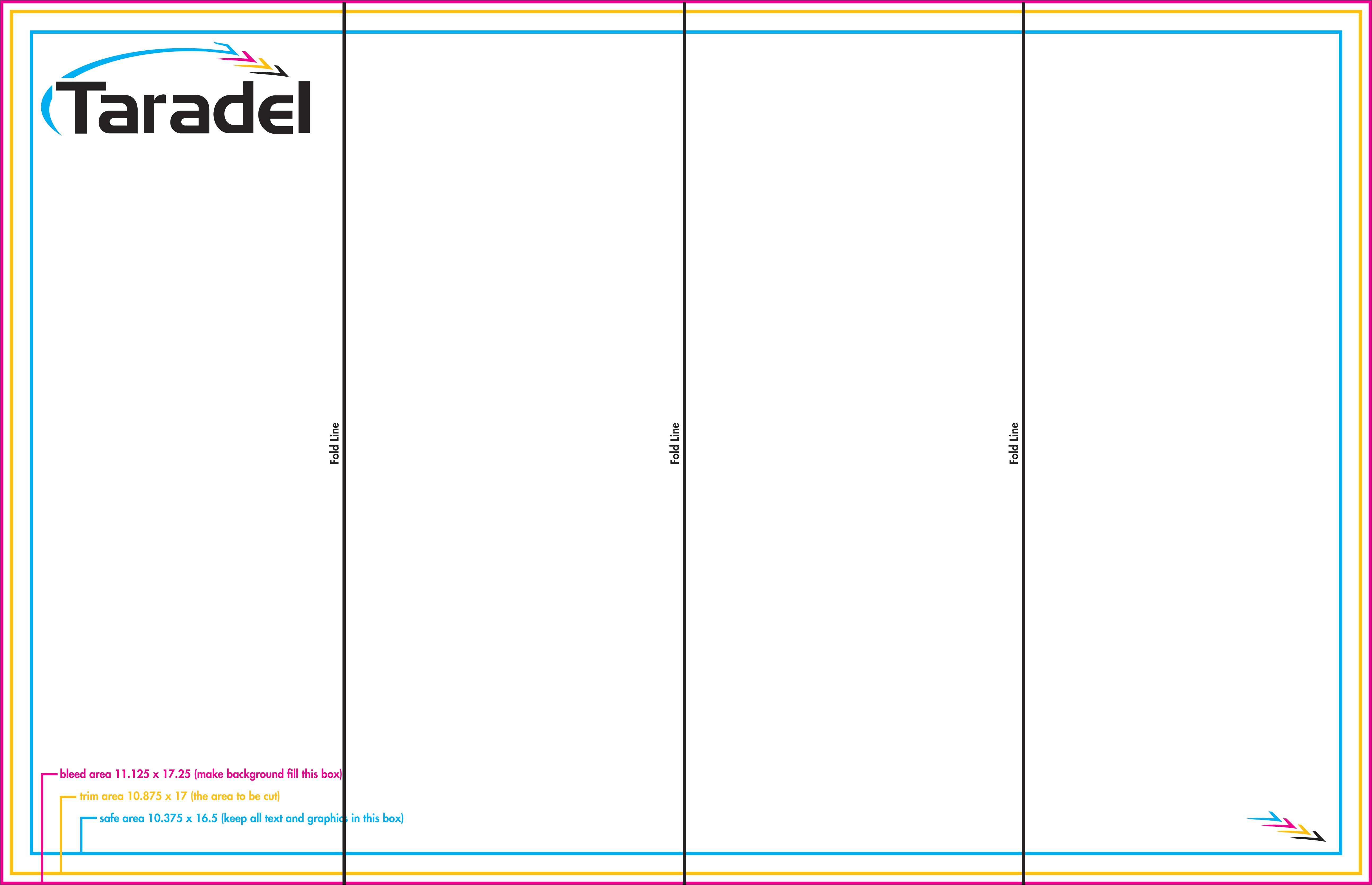 quad fold brochure template