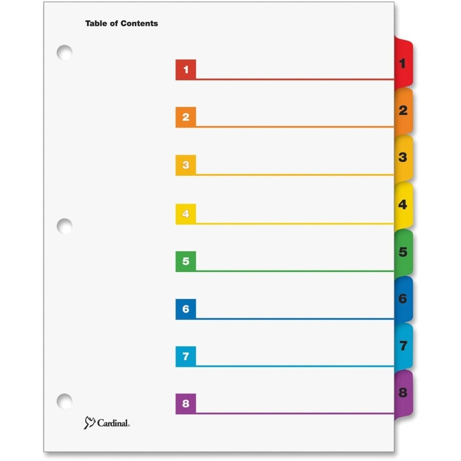 post 8 tab divider tabs printable 401003