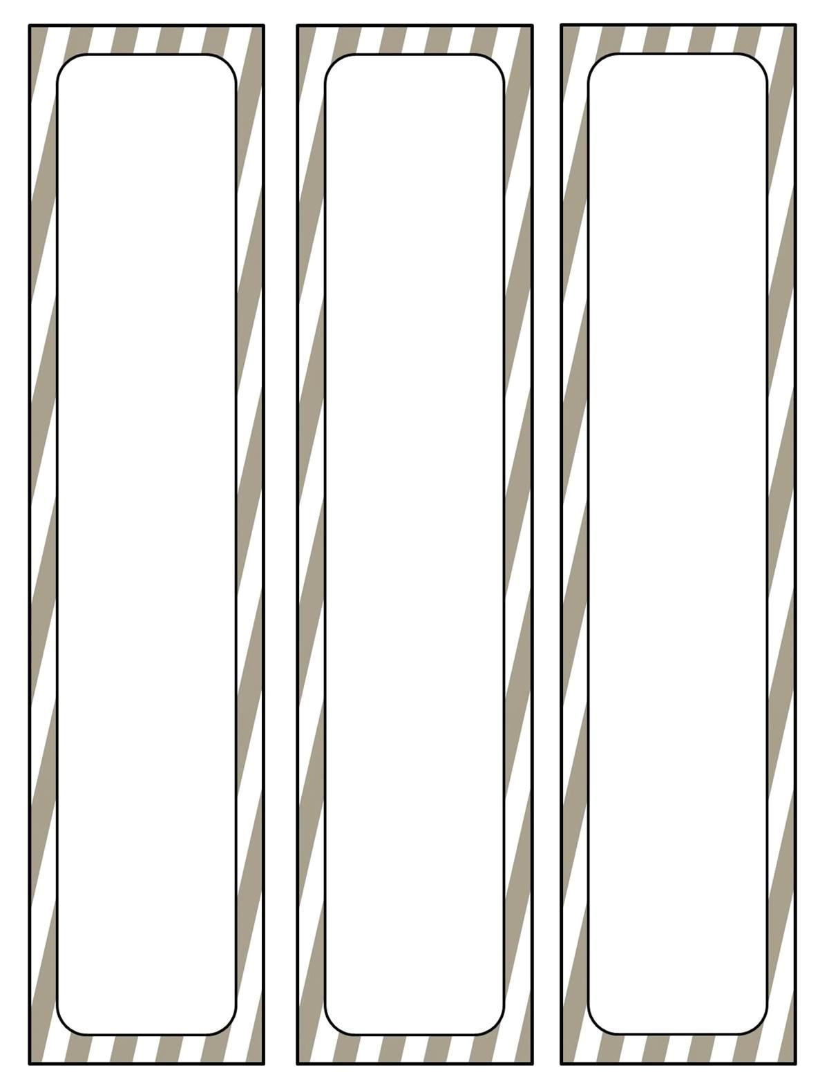 binder spine template