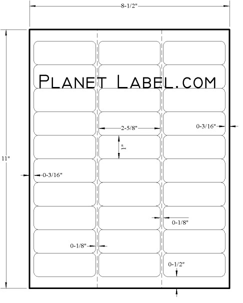 Free Avery Label Templates 5960 1 X 2 Label Template 28 Images 2 X 1 Inch Oval Label