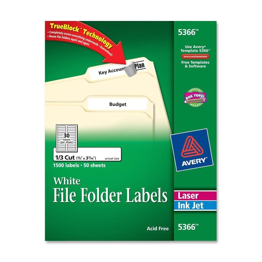 Free Avery Templates 5366 Avery Filing Label Ld Products