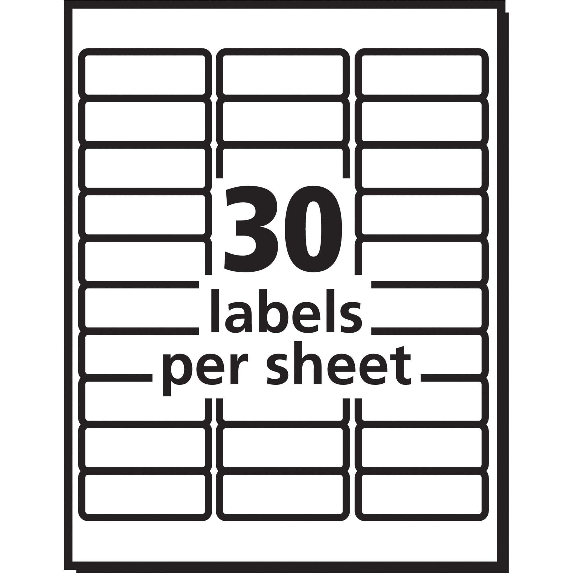 avery 5960 address label template