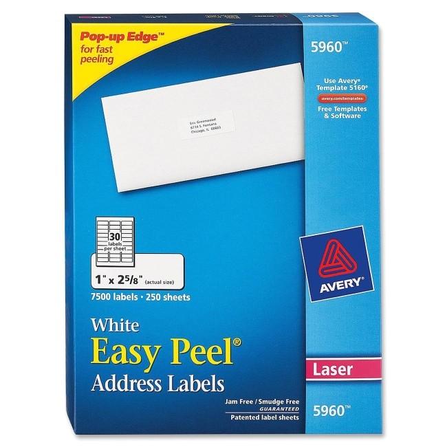 avery 5960 easy peel address label 2674321 prd1