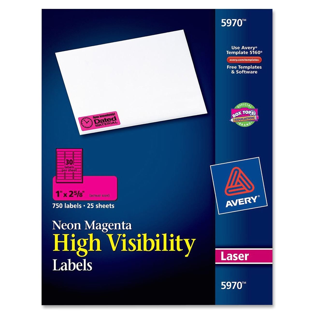 avery ave5970 high visibility labels