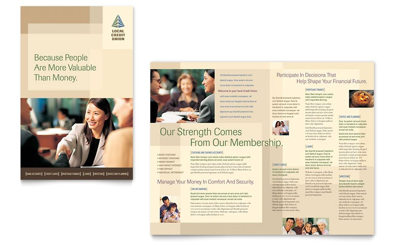 credit union bank brochure templates fn0120101d