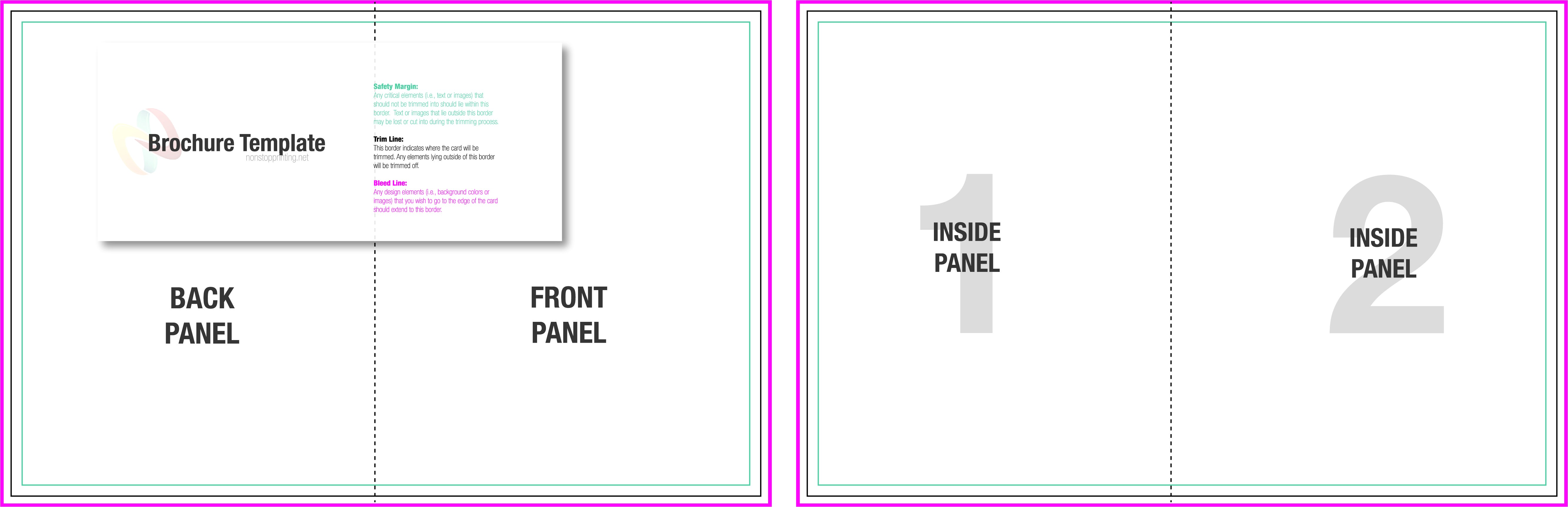post bi fold brochure template 297225