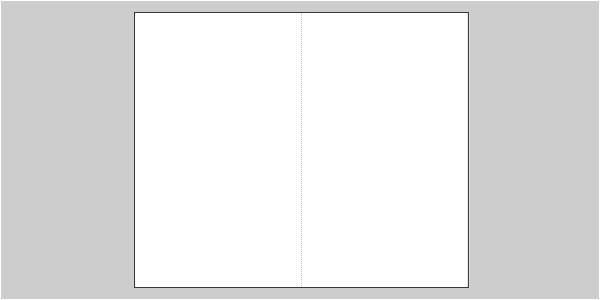 blank bifold brochure