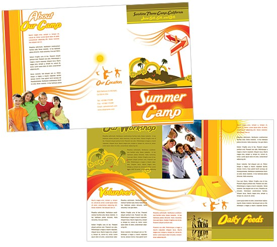 brochure template for kids