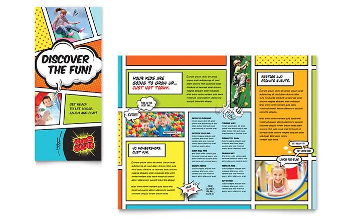 kids club brochure template design cc0030101