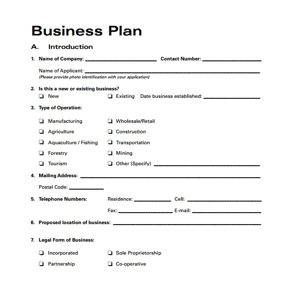 Free Business Plan Template Word format 30 Sample Business Plans and Templates Sample Templates