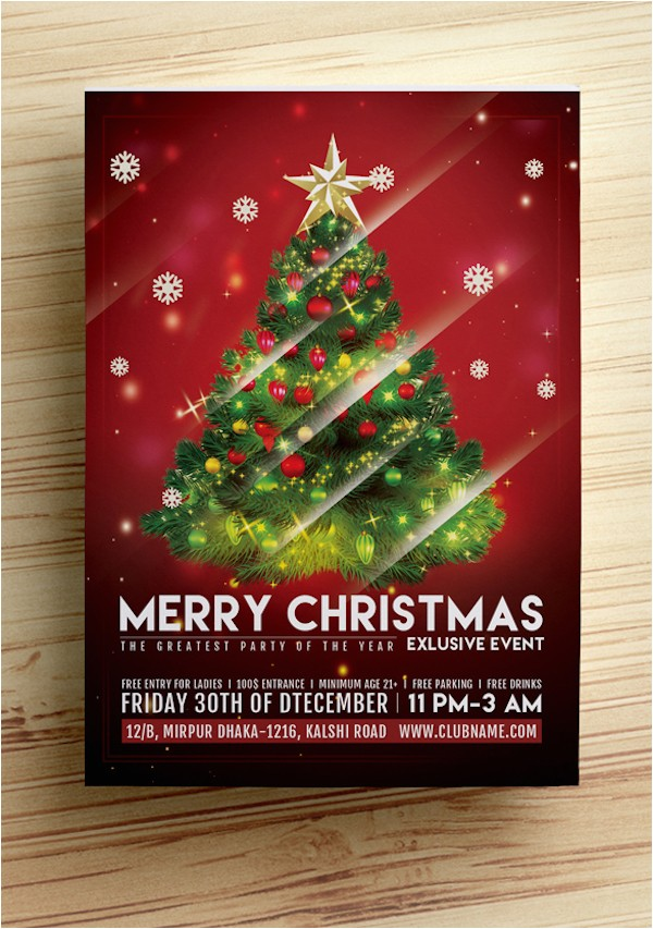 25 best free christmas flyer templates