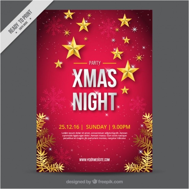 great christmas brochure with snowflakes and stars 965424