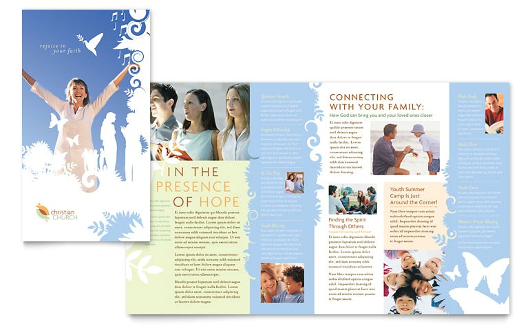 christian church brochure templates ro0040101d