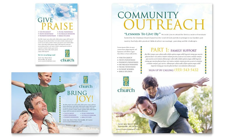 christian church flyer ad templates ro0010701d