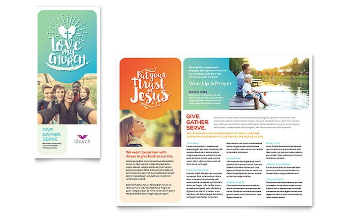 church brochure template design ro0160101