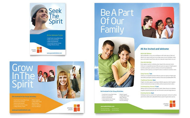 church youth ministry flyer ad templates ro0090701d